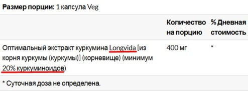 куркумин Longvida